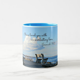 Jeremiah 31:3 I have loved you with an everlasting Two-Tone Coffee Mug
