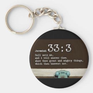 Jeremiah 33:3 keychain