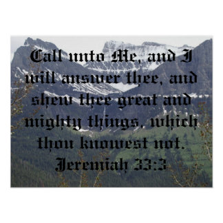 Jeremiah 33:3 poster