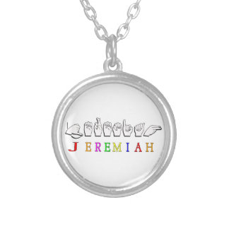 JEREMIAH ASL FINGERSPELLED NAME SIGN PENDANTS