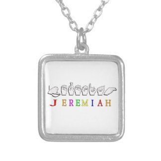 JEREMIAH ASL FINGERSPELLED NAME SIGN NECKLACE