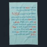 "Jeremiah Bible Quote Christian Kitchen Towel Gift<br><div class=""desc"">Jeremiah Bible Quote Christian Kitchen Towel Gift</div>"