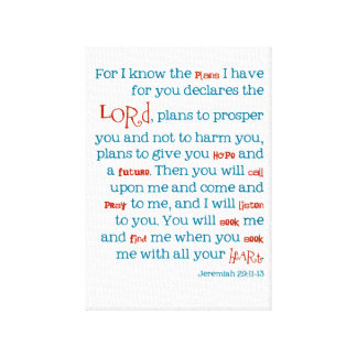 Jeremiah Christian Plans For You Quote Bible Print