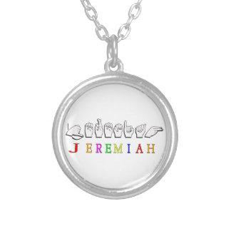 JEREMIAH FINGERSPELLED NAME SIGN PENDANTS