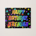 "[ Thumbnail: ""Jeremiah"" First Name, Fun ""Happy Birthday"" Jigsaw Puzzle ]"