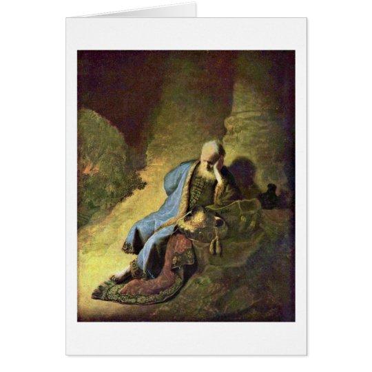 Jeremiah Lamenting By Rembrandt Van Rijn Card