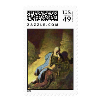 Jeremiah Lamenting Over The Destruction Of Jerusal Stamps