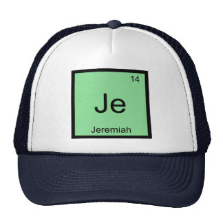 Jeremiah  Name Chemistry Element Periodic Table Trucker Hat