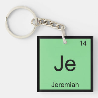 Jeremiah  Name Chemistry Element Periodic Table Single-Sided Square Acrylic Keychain