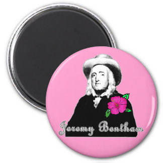 Jeremy Bentham con la flor tropical Imán Redondo 5 Cm