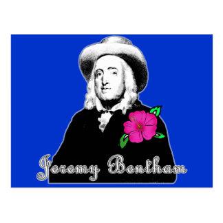 Jeremy Bentham con la flor tropical Postal