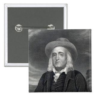 Jeremy Bentham de la 'galería de los retratos Pin Cuadrado