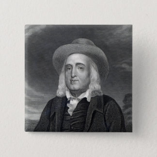 Jeremy Bentham  from 'Gallery of Portraits' Button