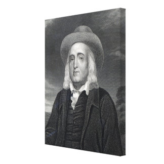 Jeremy Bentham  from 'Gallery of Portraits' Canvas Print