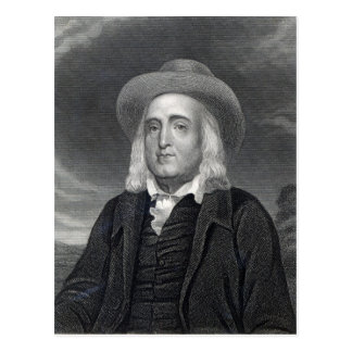 Jeremy Bentham  from 'Gallery of Portraits' Postcard