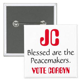 """Jeremy Corbyn """"Blessed es insignia de los Pin Cuadrado"""
