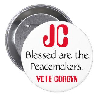 """Jeremy Corbyn """"Blessed es insignia de los Pin Redondo De 3 Pulgadas"""