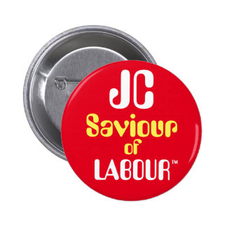 "Jeremy Corbyn ""JC Saviour of Labour™ Button Badge"