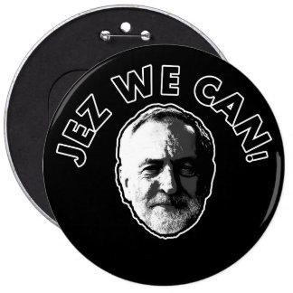 "Jeremy Corbyn ""Jez We Can"" Black badge Pinback Button"
