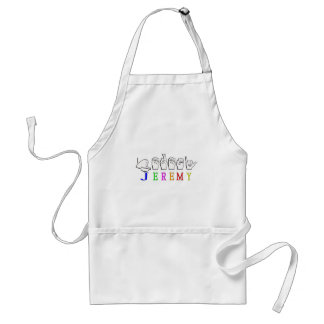 JEREMY FINGERSPELLED ASL NAME SIGN ADULT APRON