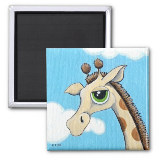 Jeremy Giraffe With His Head in the Clouds Magnet