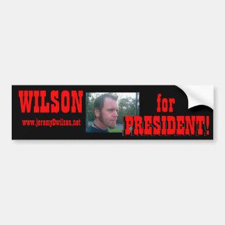 ¡JeremyWilson2007-1c, WILSON, para, PRESIDENTE! ,  Pegatina Para Auto