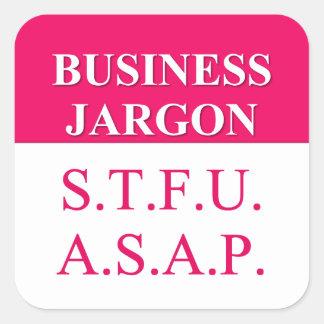 Jerga de comprensión del negocio (3) pegatina cuadrada