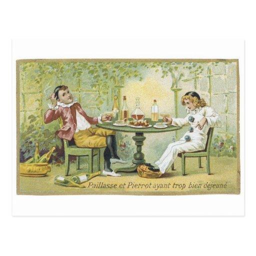 Jergón y Pierrot Tarjeta Postal