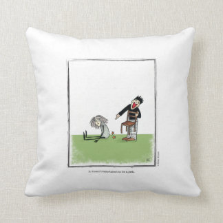 JERK cartoon by Ellen Elliott Throw Pillow