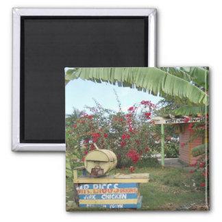 Jerk Chicken Stand in Negril, Jamaica 2011 Magnet