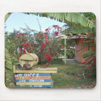 Jerk Chicken Stand in Negril, Jamaica 2011 Mouse Pad
