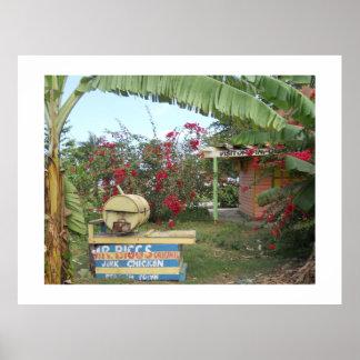 Jerk Chicken Stand Negril Jamaica Posters