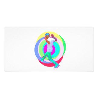 JERK DANCE logo Photo Card Template