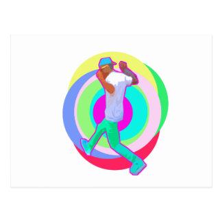 JERK DANCE logo Postcard