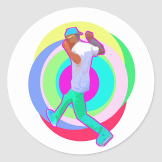 JERK DANCE logo Classic Round Sticker