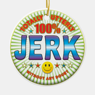 Jerk Totally Double-Sided Ceramic Round Christmas Ornament