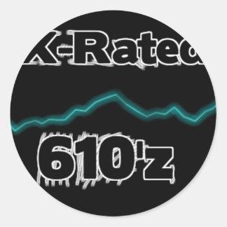 Jerkin sticker X-rated 610'z