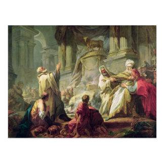 Jeroboam que sacrifica al becerro de oro, 1752 postales