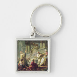 Jeroboam Sacrificing to the Golden Calf, 1752 Keychain