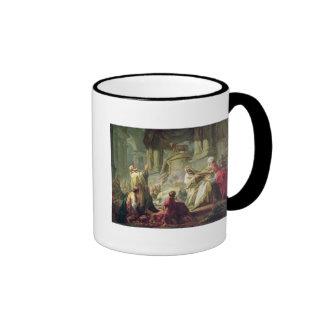 Jeroboam Sacrificing to the Golden Calf, 1752 Coffee Mug
