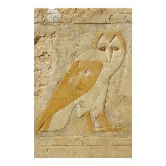 Jeroglífico antiguo del búho de Egipto del egipcio Personalized Stationery