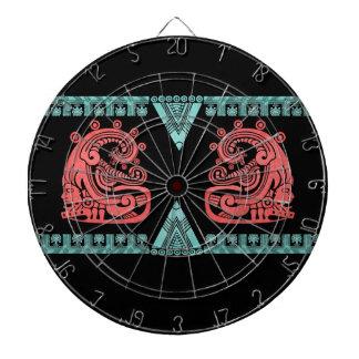 Jeroglífico azteca del guerrero de Blacklight Tabla Dardos