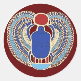 Jeroglífico de Tutankhamon Pegatina Redonda