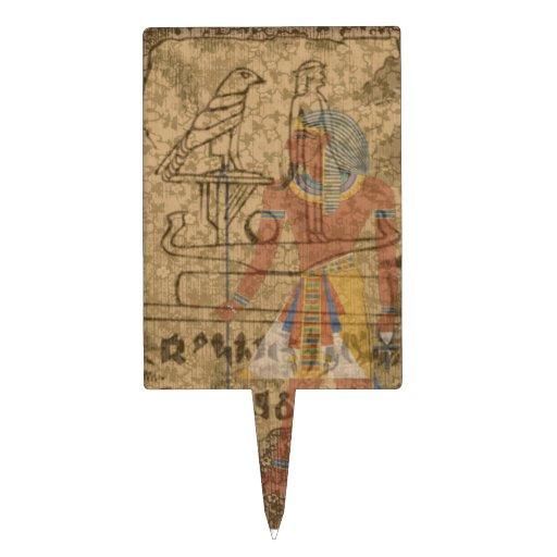 Jeroglífico egipcio figuras para tartas