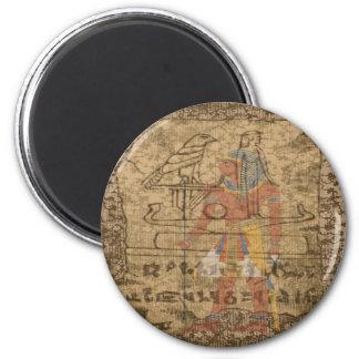 Jeroglífico egipcio imán redondo 5 cm