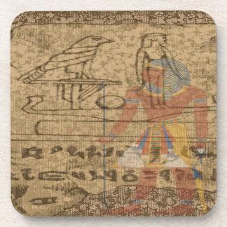 Jeroglífico egipcio posavasos de bebidas