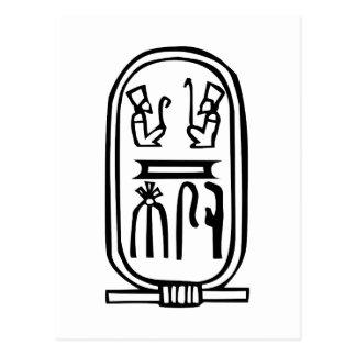 Jeroglífico egipcio tarjeta postal