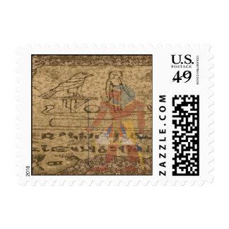Jeroglífico egipcio timbre postal