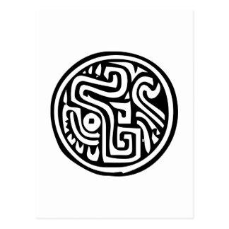 Jeroglífico mexicano (maya) postal