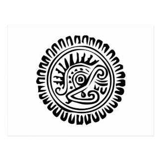 Jeroglífico mexicano (maya) tarjetas postales